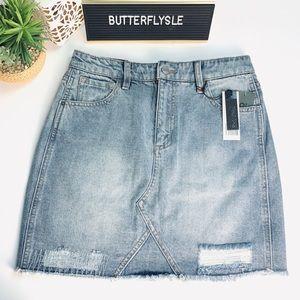 Buffalo Distressed Denim Skirt